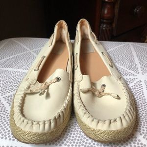 UGG Bone Color Boat Shoes Loafers Women Size 11